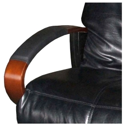 Custom chair armrest covers protect and cushion with several colors of soft and durable vinyl available